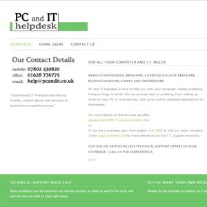 screenshot of www.pcandit.co.uk